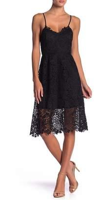 ASTR the Label Lace A-Line Mini Dress