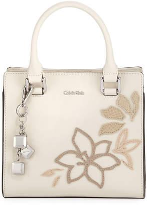 Logan Iconic American Designer Saffiano Floral Satchel Bag