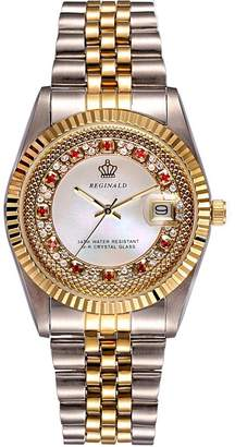 Swarovski Gosasa Women's Crystal Accented Two-Tone Dress Bracelet Watch