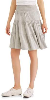 Concepts New York Women's Smock Waist Tiered Skirt