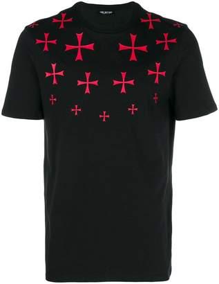 Neil Barrett Maltese cross printed T-shirt