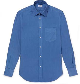 Aspesi Slim-Fit Garment-Dyed Cotton-Poplin Shirt