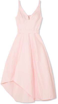 Narciso Rodriguez Asymmetric Cotton-blend Midi Dress - Pastel pink