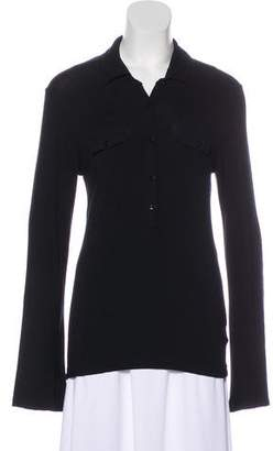 Melissa Odabash Long Sleeve Collar Top