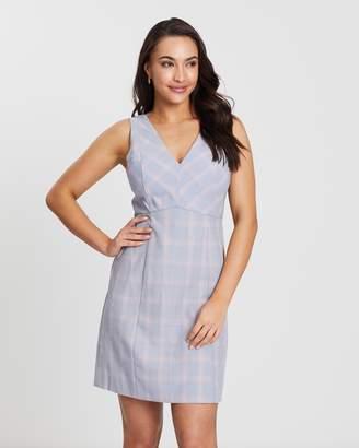Oasis Pastel Check Zip Detail Shift Dress