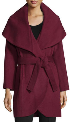 T Tahari Marla Wrap Coat $195 thestylecure.com