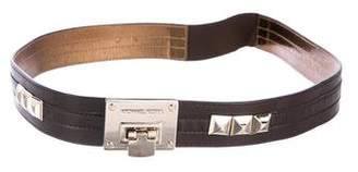 Michael Kors Leather Embellished Belt