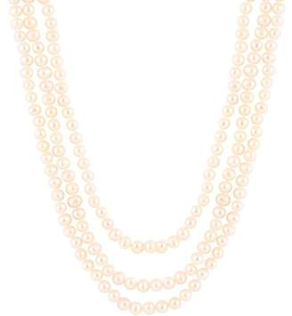 Splendid Pearls Endless 8-9mm White Freshwater Pearl Necklace