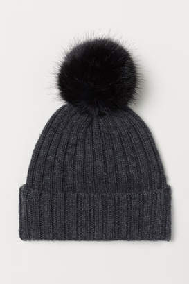 H&M Rib-knit Hat - Black