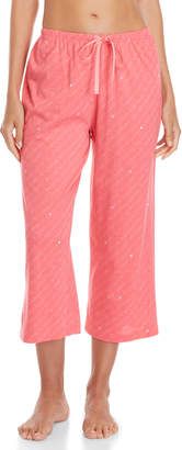 Hue Type Print Capri Pajama Pants