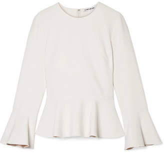 Elizabeth and James Ruthe Cady Peplum Top - Off-white
