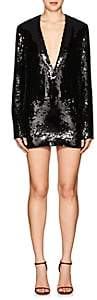 Saint Laurent Women's Sequined Cocktail Dress - Black