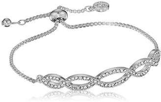 Anne Klein Women's Pave Weave Slider Bracelet
