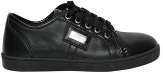 Dolce & Gabbana Nappa Leather Sneakers W/ Logo Detail