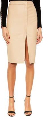 Bardot Dee Faux Leather Pencil Skirt