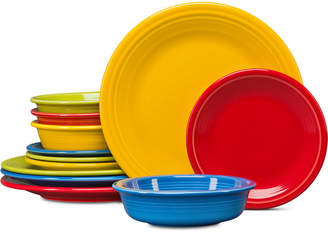 Fiesta Classic 12-Pc. Bright Colors Dinnerware Set, Service for 4