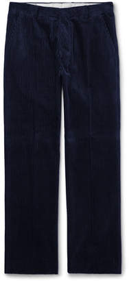 Ami Cotton-Corduroy Trousers - Navy