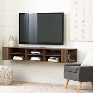 "South Shore City Life 66"" Wall Mounted TV Stand, Multiple Finishes"