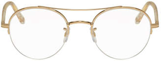 Garrett Leight Rose Gold Manchester Glasses