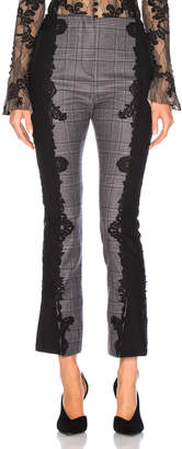 Jonathan Simkhai Applique E Cig Pant in Grey Plaid | FWRD