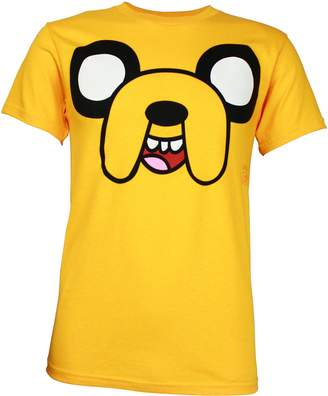 Old Glory Adventure Time Jake Face Yellow T-Shirt | L