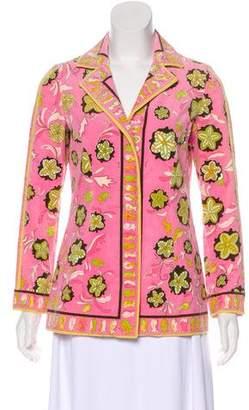 Emilio Pucci Textured Floral Print Jacket