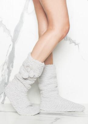 7006384274 Missy Empire Missyempire Marlow Grey Super Soft Slipper Boots