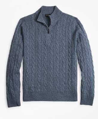 Brooks Brothers (ブルックス ブラザーズ) - ウール/カシミヤ ケーブル ハーフジップ モックネックセーター