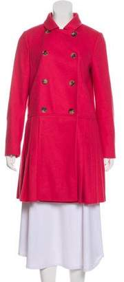 RED Valentino Double-Breasted Wool Coat