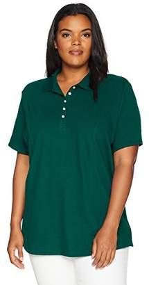 Lee Indigo Women's Plus Size Morgan Short Sleeve Polo Shirt