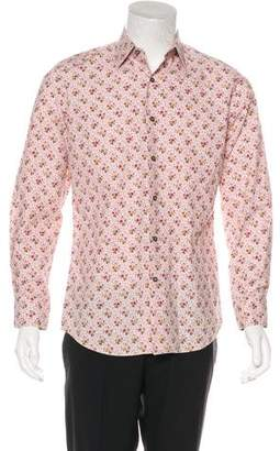 Paul Smith Floral Print Woven Shirt
