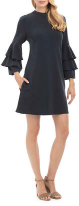 Nicole Miller New York Tiered-Sleeve Shift Dress