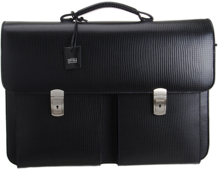 Barneys New York Textured Briefcase