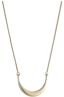 Shinola Detroit - 14K Yellow Gold Small Crescent Pendant Necklace