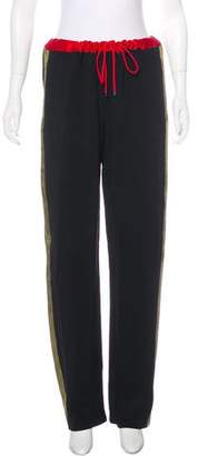 Jonathan Saunders High-Rise Straight-Leg Pants