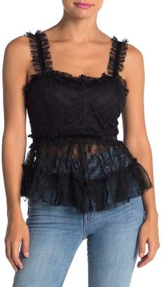 Wild Honey Sheer Lace Babydoll Tank Top