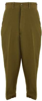 Myar - 1951 Us Military Wool Twill Uniform Trousers - Womens - Mid Green