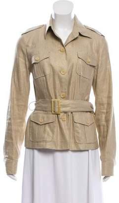 Ralph Lauren Linen-Blend Button-Up Jacket