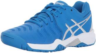 Asics Unisex-Kids Gel-Resolution 7 GS Tennis-Shoes, Directoire /Silver/White, Medium US Big Kid