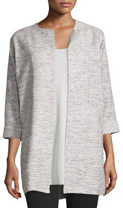 Eileen Fisher Woven Twist Long Jacket $248 thestylecure.com