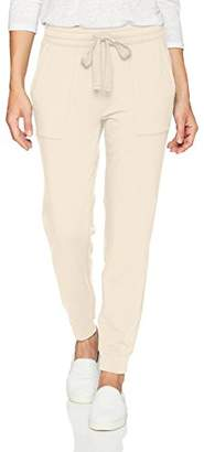 Daily Ritual Women's Terry Cotton and Modal Patch-Pocket Jogger Pant