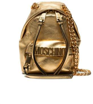Moschino Gold backpack leather shoulder bag