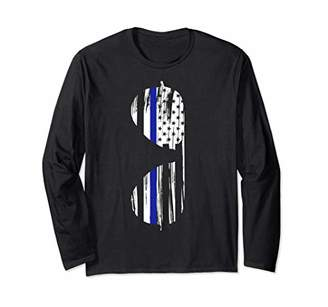 Thin Blue Line Sunglasses Graphic Long Sleeve T-Shirt