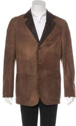 Kiton Suede Cashmere-Lined Jacket