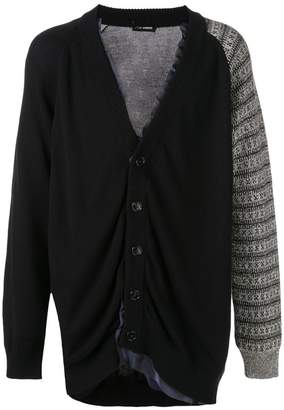 Raf Simons layered knitted cardigan