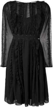 Liu Jo lace panel pleated dress