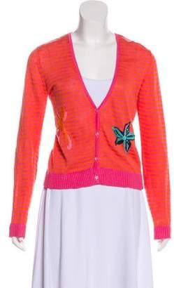 Calypso Striped Knit Cardigan