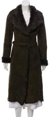 Joseph Long Shearling Coat