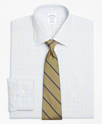 Brooks Brothers Regent Fitted Dress Shirt, Non-Iron Alternating Check