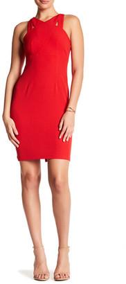 Donna Morgan Criss Cross Crepe Dress $138 thestylecure.com
